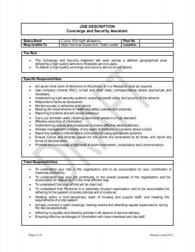 Concierge Doorman Resume. advanced process control engineer sample ...