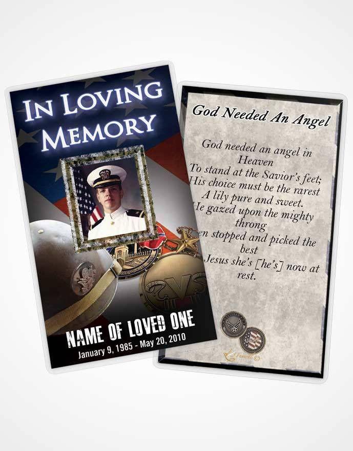 Funeral Prayer Card Template Veteran 01 | FuneralParlour
