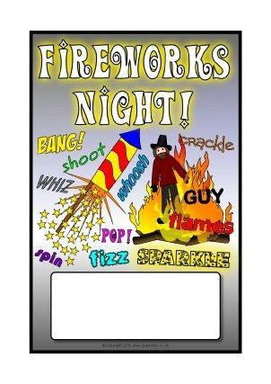 Fireworks Night & Bonfire Night Teaching Resources - SparkleBox