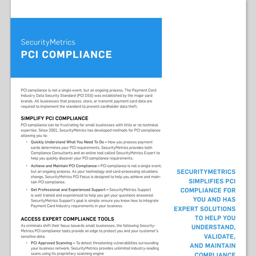 PCI Compliance for Small Businesses | Testing and Certification ...