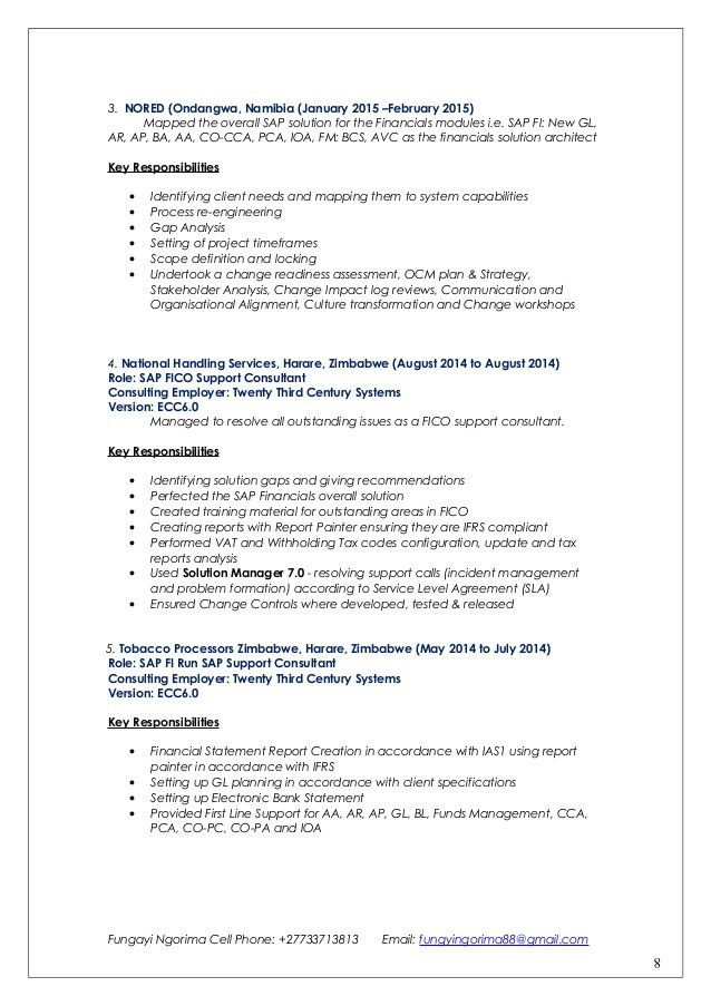 sap fi cv sample sap abap resume sample resume cv cover letter sap