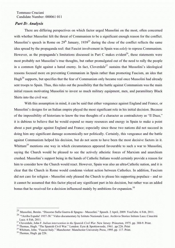 Spanish Civil War - IB History