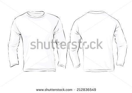 Long Sleeve T-shirt Template Vector - Download Free Vector Art ...