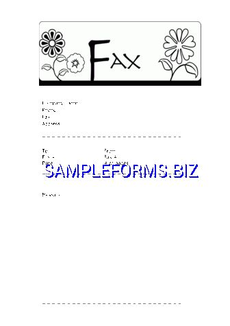 Funny Fax Cover Sheet 1 doc pdf free — 1 pages