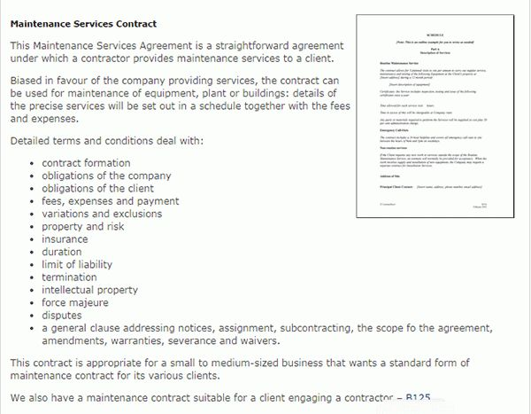 Air Conditioning Service Contract Sample | Create professional ...