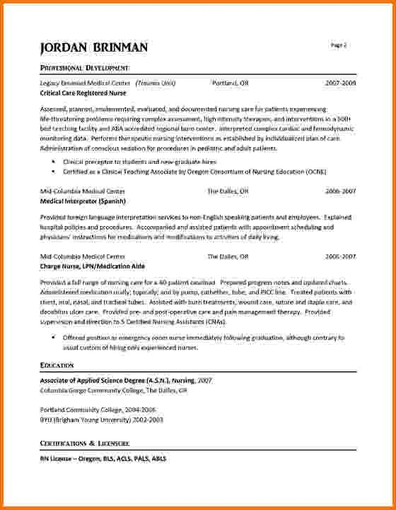 6 experienced nursing resume samples | Financial Statement Form