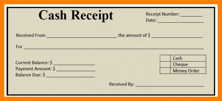 10+ cash receipt template word doc | packaging clerks