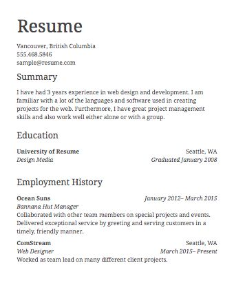 Sample Resumes & Example Resumes with Proper Formatting · Resume.com