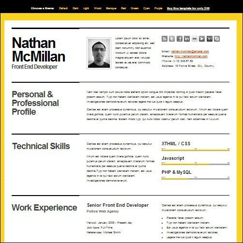 Best Cv Template - Resume Cv Template Example