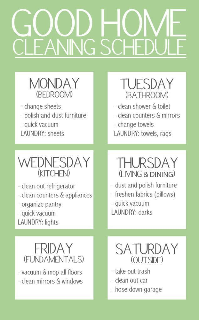 25+ best Cleaning schedules ideas on Pinterest | House cleaning ...