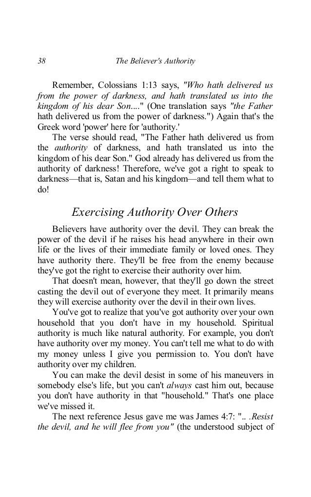 The believers authority by hagin