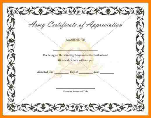 6+ army certificate of achievement template | farmer resume