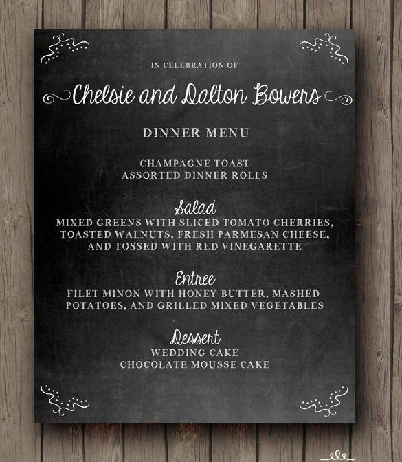20+ Chalkboard Menu Templates – Free Sample, Example Format ...