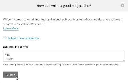 Best Practices for Email Subject Lines | MailChimp
