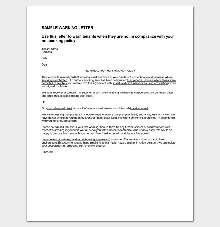 Tenant Letter Template - 9+ Docs, Samples & Examples - Dotxes