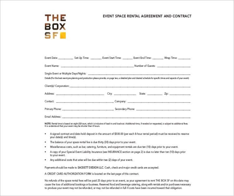 Rental Agreement Contract. Room Space Rental Agreement Templates ...
