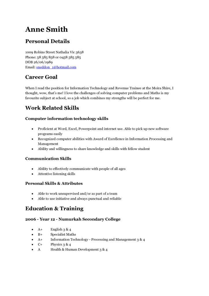 Astounding Design Teenage Resume Sample 3 Samples - Resume Example