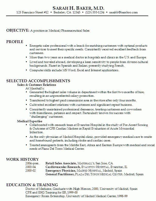 Resume for Medical/ Pharmaceutical Sales - Susan Ireland Resumes