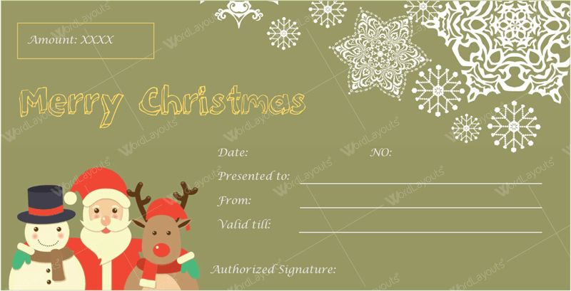 Christmas Gift Certificate Templates for Word (Editable & Printable)