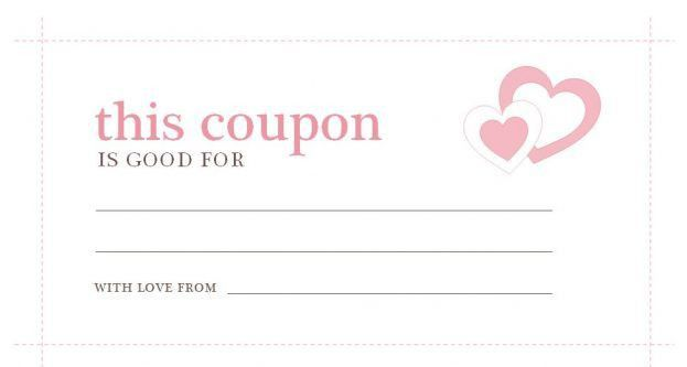 Coupon Template For Boyfriend Free Food Coupon Template : Selimtd