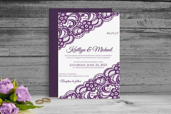 DiY Printable Wedding Invitation Template - Download Instantly ...