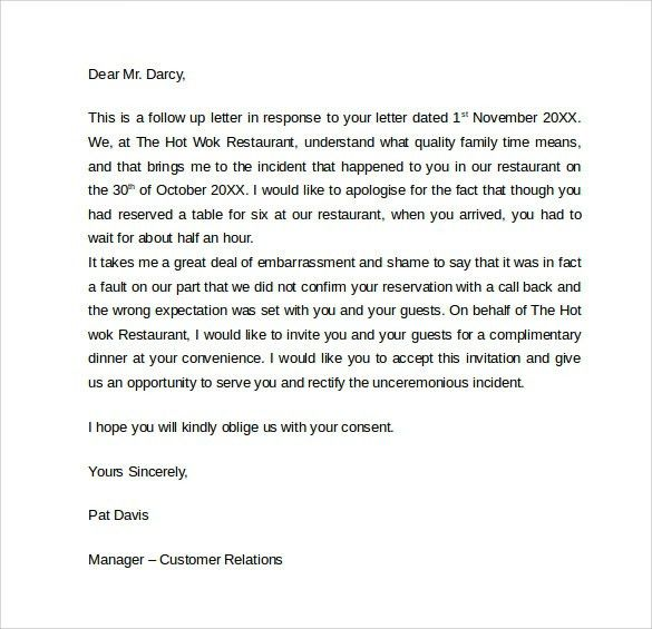 Apology Letter To A Client - letter of recommendation