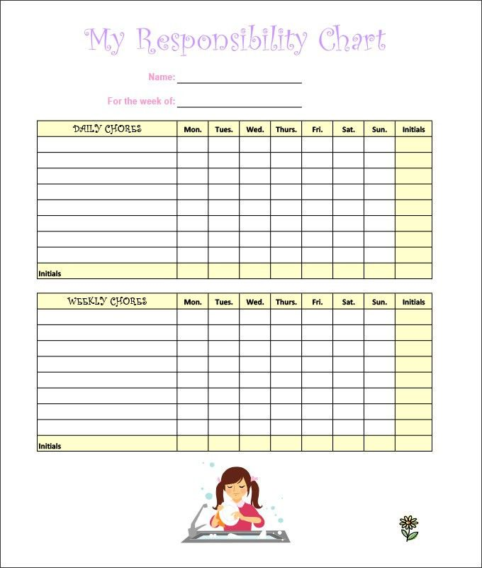 7+ Kids Chore Chart Templates - Free Word, Excel, PDF Documents ...