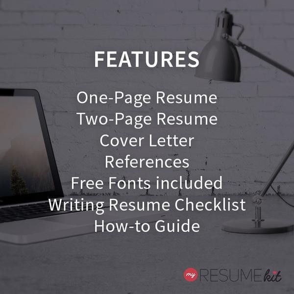 "Resume Template for Word | Theme ""Kate"" - Elegant Look in White ..."