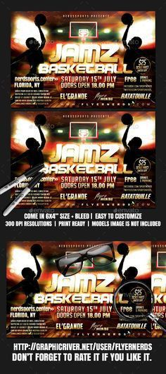 Basketball Final Game Sports Flyer | Flyer template, Template and ...