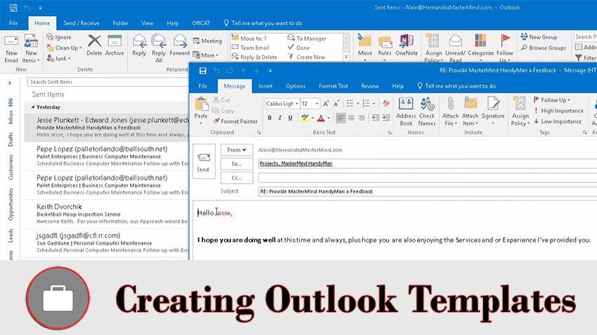 Create Email Template in Outlook   Hernandez MasterMind