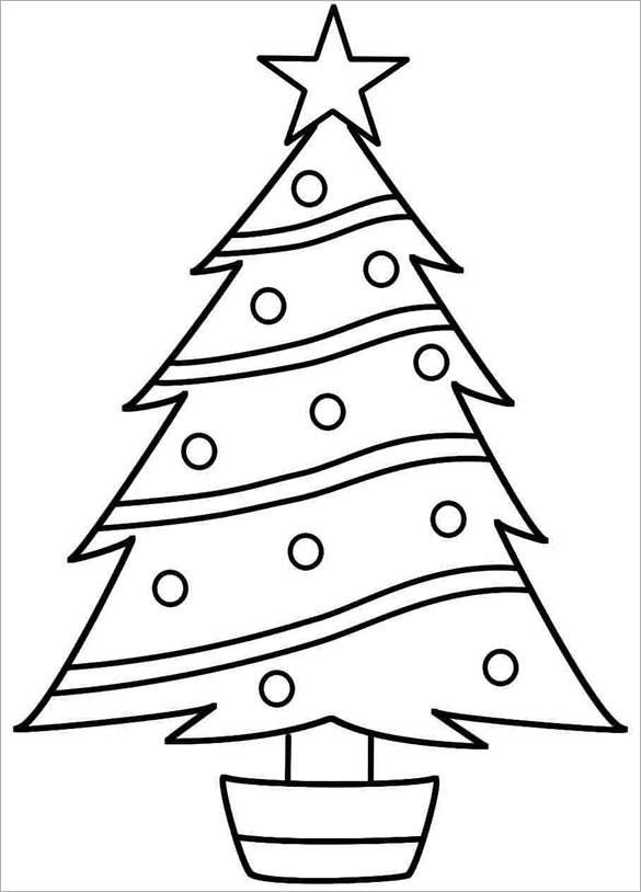 Christmas Tree Template For Colouring | Design idea Of Chrismas