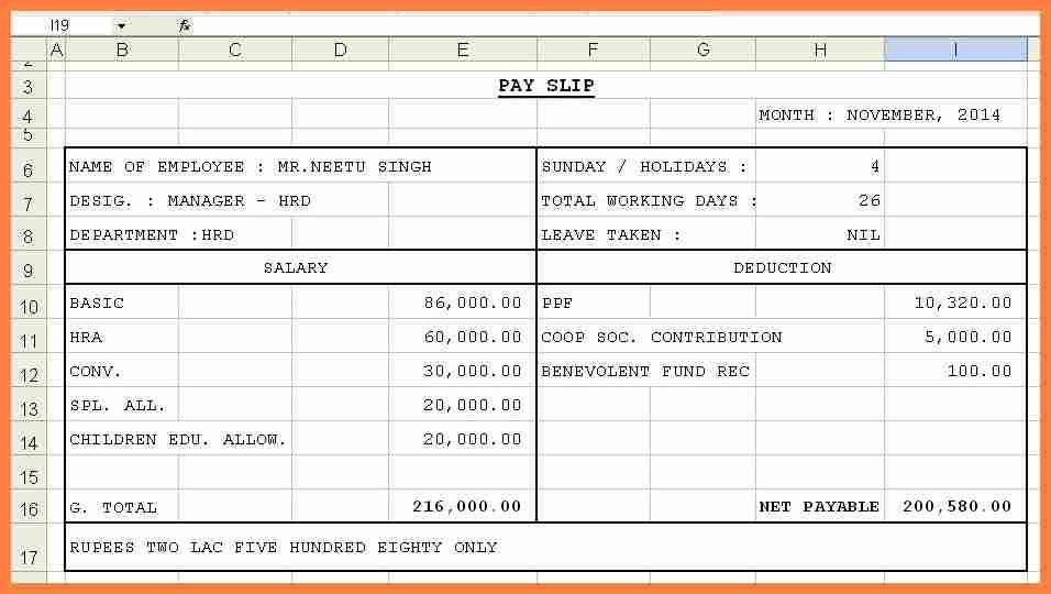employee salary template - Template