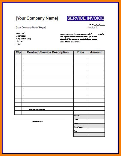 Download Invoice Template for Contractors | rabitah.net