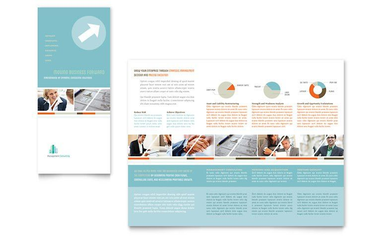 Management Consulting Tri Fold Brochure Template - Word & Publisher