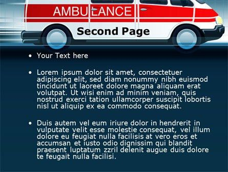 Racing Ambulance PowerPoint Template, Backgrounds | 10175 ...