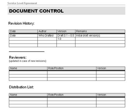 Enterprise Resource Planning - ERP Service Level Agreement (SLA)