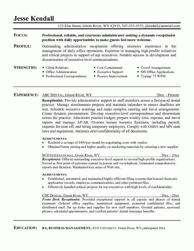 skills for receptionist resume unforgettable receptionist resume