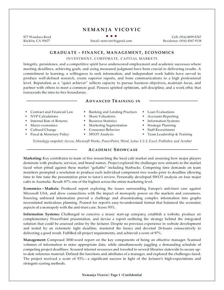 Resume For Recent College Graduate – Okurgezer.co