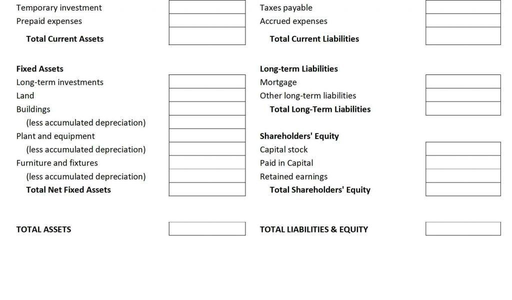 Profit Loss Balance Sheet Template Profit And Loss And Balance ...