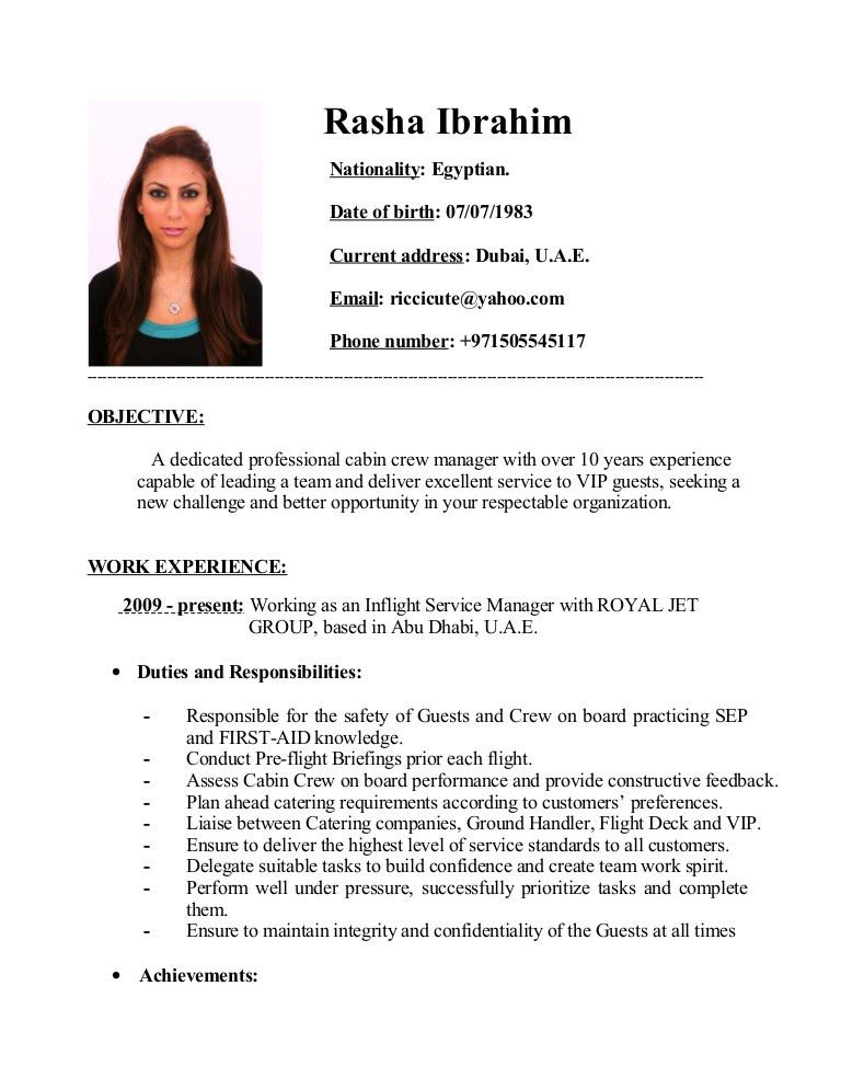 how to properly write a cabin crew cv resume for cabin crew fresher