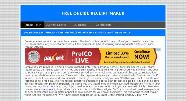 Access fakereceipt.us. Free Online Receipt Maker - Sales Receipt ...