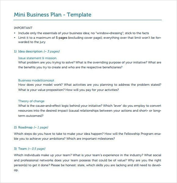 Nonprofit Business Plan Template. Free Sample Business Plan For ...