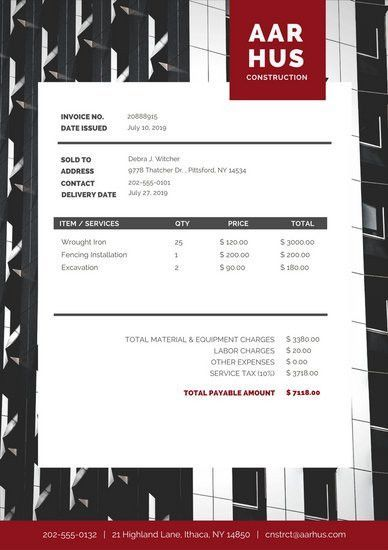 Black Minimal Photo Commercial Invoice Letterhead - Templates by Canva