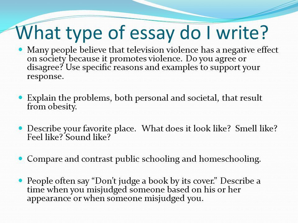 What type of essay do I write? - ppt video online download