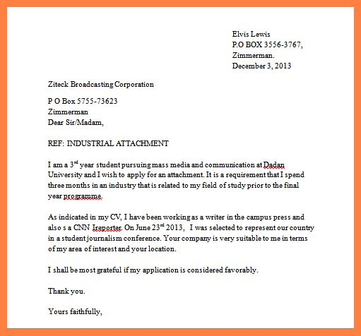 Simple application letter for job vacancy