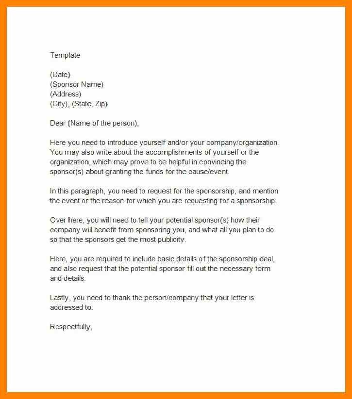sponsorship letter template word perfect cover letter examples ...