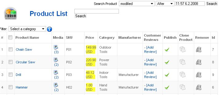 3 Excel Product List Templates - Excel xlts