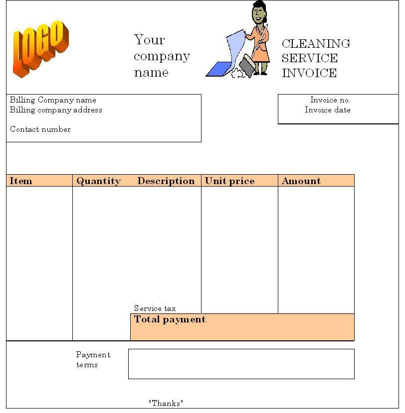 Cleaning Invoice Template Free | Free Business Template