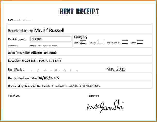 8+ how to write a rent receipt | bibliography format