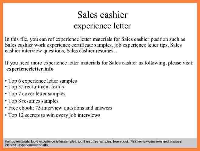 3+ experience letter in sales   Bussines Proposal 2017